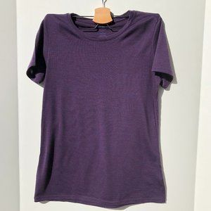 Icebreaker Pure 100% Merino Wool Top Purple Size S